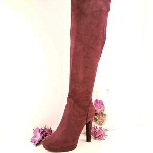 Orla - Wine Over-the-knee Boot